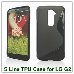 Wholesale Lg G2 S Cover - 15PCS X High Quality Soft Gel TPU Candy S-Line Wave Ultra Matte Covers Case for LG G2 8 Colors Free Shipping