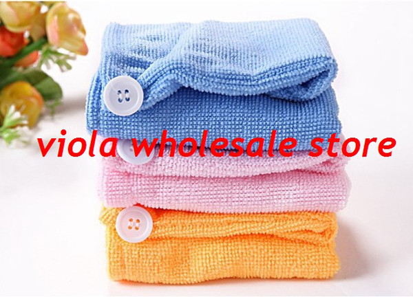 best selling Free Shipping 1000pcs lot Microfiber Magic Hair Dry Drying Turban Wrap Towel Hat Cap Quick Dry Dryer Bath make up towel