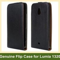 ingrosso casi per lumia-Custodia a conchiglia in vera pelle per Nokia Lumia 1320 con scatto magnetico