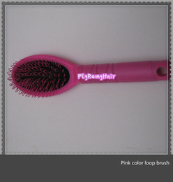$enCountryForm.capitalKeyWord Canada - 10pcs lots,Hot sell Pink color loop hair brush for prebonded hair extension
