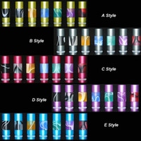 Wholesale Electronic Cigarette Aluminum Drip Tip - Colorful candy Mouthpiece Aluminum Drip Tips Acrylic and Aluminum drip tip for vivi nova DCT EE2 Atomizer 510 thread Electronic Cigarette