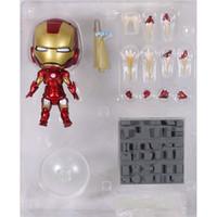 "Wholesale Iron Man Cute Model - Cute Nendoroid 4"" Iron Man Mark7 Tony Stark Set PVC Action Figure Collection Model Toy 10cm"