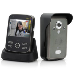 Wholesale Wireless Sd Motion Camera - 3.5 Inch Wireless Video Door Phone PIR Motion Detection Micro SD Card Night Vision Photo Taking