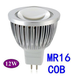 Wholesale Cree Cob Lights - 5X LED Spot light 12W MR16 COB led lamp Warm White  Pure White bulb Lamp Spotlight Free Shipping