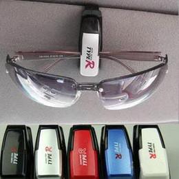 Wholesale Eyeglasses Holder Clip - 2pcs Fashion Smart Car Vehicle Sunglasses visor clip Eyeglasses Holder