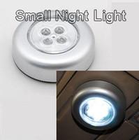 neonblaue glühbirnen großhandel-4W hohe helle LED Stick Touch Lampe Post leuchtet kleine Nachtlicht Kleiderschrank Lichter Auto Kofferraum Reitstock Lampe Nachtlicht