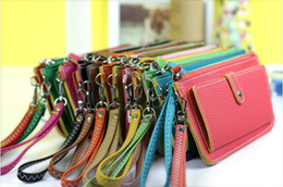 Wholesale Soft Zip Wallet - 2016 party PU Card Zip Wallet Purse Clutch Black Soft Synthetic Leather Women Lady Girl UM-bags Portable Handbag Bags