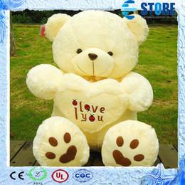 Wholesale Beige Teddy Bear - Best Gift Beige Giant Big Plush Teddy Bear Soft Gift for Valentine Day Birthday High Quality