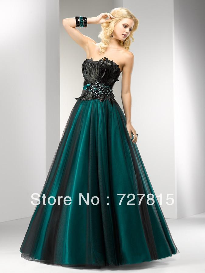 Peacock Gothic Victorian Prom Dresses Fast Shipping Turquoise ...