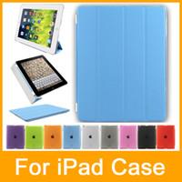 Wholesale Ipad Mini Smart Case Magnet - Ultra Thin Leather Stand Case Cover For Apple iPad 2 iPad 3 iPad 4 iPad mini Built-in magnet for sleep   wake feature