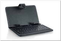 ingrosso casi di pollice androide-7 8 9 9.7 10 pollici Universale PU Custodia in pelle con tastiera Micro USB per tablet Android Pipo Cube Chuwi Teclast Cover tastiera russa
