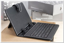 Universal Inch Keyboard Tablets Canada - 50pcs 7 8 9 9.7 10 inch Universal PU Leather Case Cover with Micro USB Keyboard for Android Tablet Cube Chuwi Teclast Cover Russian keyboard