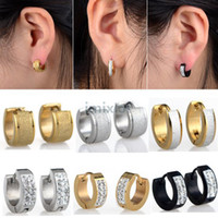 24pcs(12pairs) New Fashion Punk Stainless Steel Earrings Hoo...