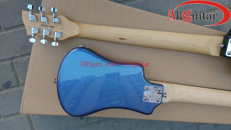 2 st Hofner Mini Travel Guitar Svart Blå Färg Travel Gitarr med Gigbag