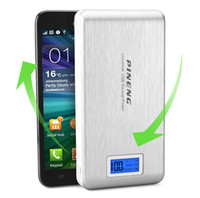 Wholesale Galaxy S4 Power Pack - PINENG PN-929 POWER PACK 15000mah external Dual USB battery Charger for iphone 5s 4s Samsung Galaxy S4 I9500 i9300 N7100 N9000 i8190 I9100
