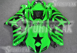 Body Ninja Zx Australia - 7 Gifts fairings body kit for Kawasaki Ninja ZX-6R 2005 2006 ZX6R 05 06 ZX 6R green custom painting