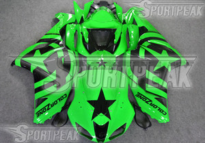 7 Gifts fairings body kit for Kawasaki Ninja ZX-6R 2005 2006 ZX6R 05 06 ZX 6R green custom painting