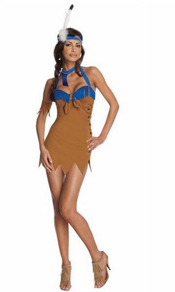 Compre 2013 Sexy Adulto Mujer India De La Ropa De Los Indios De Disfraces De Hallowen De Los Amerindios Los Disfraces De Carnaval Para Las Mujeres A