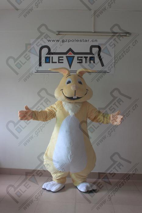 الجودة مخصصة الكرتون الأرنب التميمة ازياء جديدة لون البشرة أرنب عيد الفصح الأرنب المشي الممثل نجمة القطب التميمة