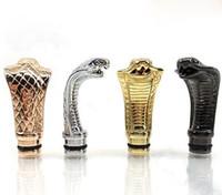 Wholesale Kts Tip - 510 King Cobra Adapter Drip Tips Animal Metal mouthpiece For Lambo Ego Kts Evic Mod Vamo K100