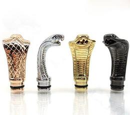 Wholesale Ego Cobra - 510 King Cobra Adapter Drip Tips Animal Metal mouthpiece For Lambo Ego Kts Evic Mod Vamo K100