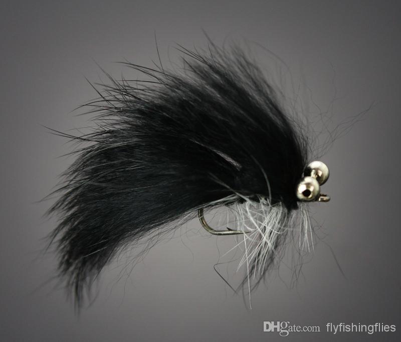 Mouche-Mouches Quantité 2 ** Laineux Worm-Beadhead ** crochet-Taille 8 LIVRAISON GRATUITE