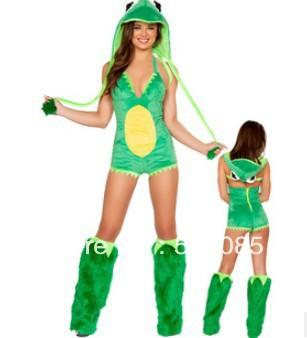 6c308f7f6d6e 2019 Sexy Green Frog Animal Onesies For Adults