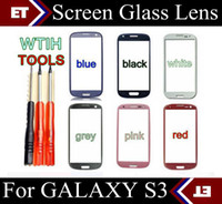 Wholesale S3 Screen Tools - Replacement Screen Digitizer Glass Lens for Samsung Galaxy S3 I9300 Black and White with tools