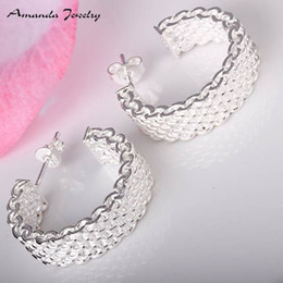 Wholesale Wholesale Nickle Plated Jewelry - GSSPE023Free shipping,wholesale,delicate silver earrings,fashion classic jewelry, high quality,Nickle free,Factory price