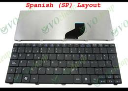 Original Laptops Canada - New and Original Notebook Laptop keyboard FOR Acer Aspire One D255 D257 D260 521 533, Gateway LT21 LT2100 NAV50 Matt Black Spanish SP versio