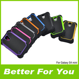 Wholesale Galaxy S4 Robot Case - New For I9190 Case, High Quality 3 in 1 Design Robot Silicone +PC Hybrid Combo Back Cover Cases For Samsung Galaxy S4 Mini i9190 DHL