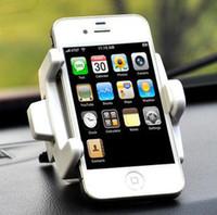 havalandırma cep telefonu tutacağı toptan satış-360 Dönme Araba Hava Firar Dağı Standı Cep Telefonu Evrensel ücretsiz kargo Için Tutucu Kiti