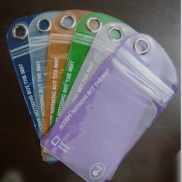 Wholesale Clear Iphone 4s Cases Cheap - FREE DHL PVC Waterproof Jelly Case Cheap Cover Clear Bag Dustproof SnowProof Color Pouch for APPLE iPhone 4 4S 5 5S Cell Phone Factory Price