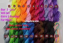 Wholesale 1mm Shamballa Cord - Wholesale -  Retail 1mm*140M 150yds lot Mix Colour Beading Shamballa Cord Nylon 1mm Rope for Shamballa Bracelet Necklace