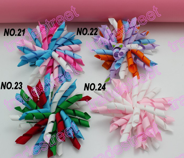 NEw 100pcs 3.5'' korker hair bows (SEW ones) korker hair clips boutique corker hair clips navy