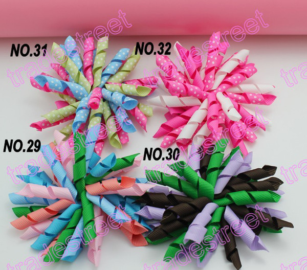 NEw 100pcs 3.5'' korker hair bows (SEW ones) korker hair clips boutique corker hair clips rose
