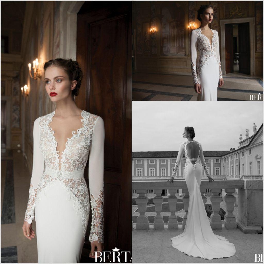 Großhandel Berta Braut Moderne 2014 Brautkleider Sexy Tiefe V ...