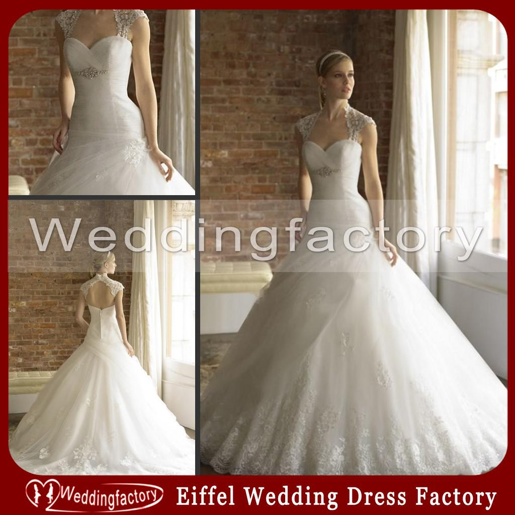 2014 Spanish Style Wedding Dresses Ball Gown Sweetheart Tulle Lace ...