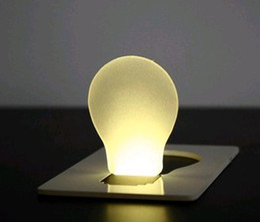Wholesale Mini Pocket Led Card Light - Best price novelty Mini Portable Pocket LED Card Light Lamp put in Purse Wallet 500PCS