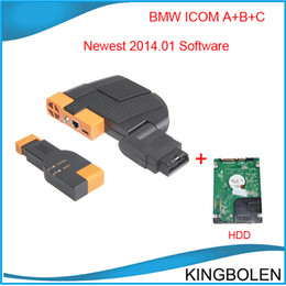 Wholesale Icom Bmw Isis Software - With 2014.01 Latest software BMW ICOM Auto professional diagnostic tools for BMW ICOM ISIS ISID A+B+C 3 IN 1 full set Free Shipping