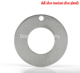 "Wholesale Silver Circle Blank Pendant - Free Shipping! 20PCs Silver Tone Stainless Steel Blank Stamping Tags Round Circle Pendants 20mm( 6 8"") (B19196)"