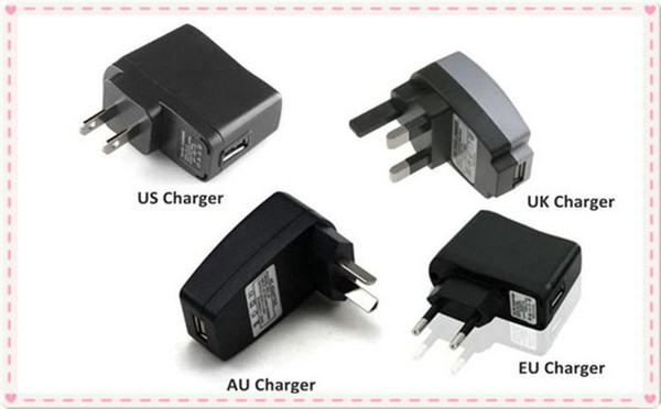 USB Charger or Wall Charger for Electronic Cigarette E-cigarette E-cig EGO-T EGO Adapter USB Or US UK EU AU Wall Charger Plug free shipping