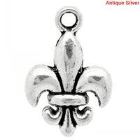 Wholesale fleur lis silver pendant - Charm Pendants Fleur-De-Lis Antique Silver 18x12mm,50PCs (K10350) New Jewelry making DIY Free shipping for bracelet necklace