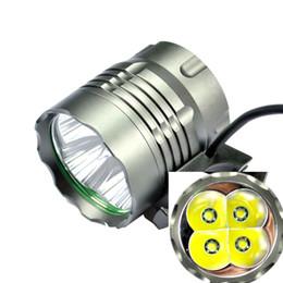 Wholesale T6 Xmlt6 Led - 1Set 4*T6 Bike Light XMLT6 LED 5000 Lumens 3 Mode Waterproof J48 Bicycle Light + 6*18650(8800mAh) Battery Pack + Charger