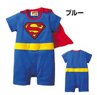 Wholesale Super Man Rompers - Stylish Baby One-Piece Rompers super man 100%cotton bodysuit kids' romper Costume