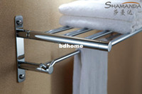 Wholesale Towel Rack Solid Shelf - Free Shipping (60cm) Activity folding towel rack towel lever towel shelf,Solid brass made,Chrome finish,Bathroom Hardware-96022