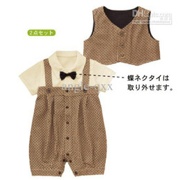 Wholesale Organic Bibs - Baby Outfits boys' clothes boys' bow shirts boys' shorts boys' bib pants boys' suits boy's set CL60