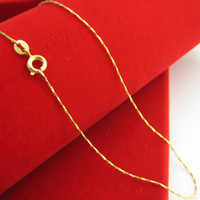 Wholesale Gold 18k 24k Chain - 18K gold plated gold necklace really female 24K imitation gold chain fine fashion wedding jewelry chain clavicle
