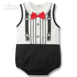 $enCountryForm.capitalKeyWord UK - Baby One-Piece bow Baby Rompers baby bodysuits boys' coverall baby baby clothes CL118