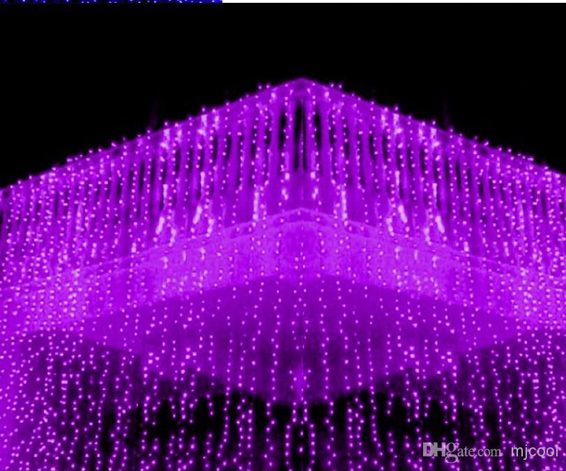 Новое поступление Больше размера 256LED 300LED 600LED 800LED 1000LED String Fairy занавес света Fairy светодиодные огни Рождественские лампы Au UK EU US Plug